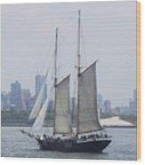 Sails On The Harbor Wood Print