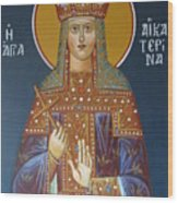 Saint Aekaterina Wood Print