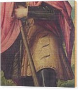 Saint Alexander A Panel From The Altarpiece The Nativity With Saints Wood Print
