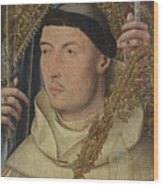 Saint Ambrose With Ambrosius Van Engelen   Wood Print
