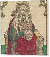 Saint Anne, The Madonna And Child, And A Franciscan Monk Wood Print
