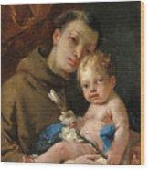 Saint Anthony Of Padua And The Infant Christ Wood Print