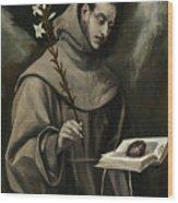 Saint Anthony Of Padua Wood Print