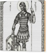 Saint Artemius Wood Print