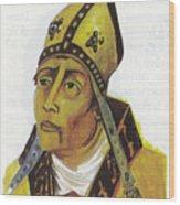 Saint Augustin Hippone Wood Print