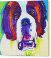 Saint Bernard -  Wood Print