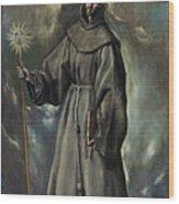 Saint Bernard Wood Print