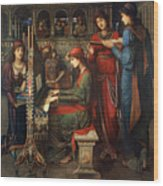 Saint Cecilia Wood Print by John Melhuish Strudwick