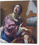 Saint Cecilia Wood Print