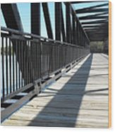 Saint Charles Walking Bridge Wood Print