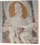Saint Damasus Tondo In Saint Peter's Basilica Wood Print
