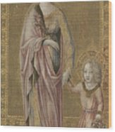 Saint Dorothy And The Infant Christ Wood Print
