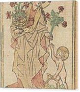 Saint Dorothy Wood Print