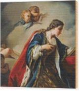 Saint Elisabeth Of Hungary Praying Wood Print
