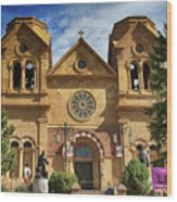 Saint Francis Cathedral Wood Print