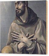 Saint Francis In Ecstasy Wood Print