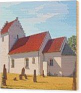 Saint Gabrielle Wood Print