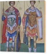 Saint George And Saint Dimitrios Wood Print