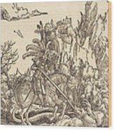 Saint George Slaying The Dragon Wood Print