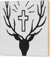 Saint Huberts Stag Wood Print