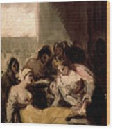 Saint Isabel Of Portugal Healing The Wounds Of A Sick Woman Wood Print
