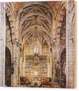 Saint Isidore - Romanesque Temple Altar And Vault - Vintage Version Wood Print