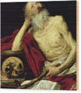 Saint Jerome Wood Print