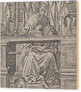 Saint Jerome In His Study Wood Print