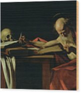 Saint Jerome Writing Wood Print