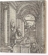 Saint Jerome Writing Wood Print