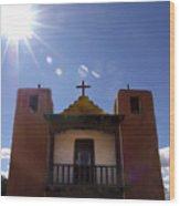 Saint Jeromes Chapel Taos Pueblo Wood Print