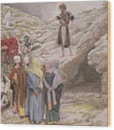 Saint John The Baptist And The Pharisees Wood Print by Tissot