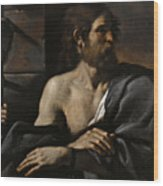 Saint John The Baptist In Prison Visited By Salome Wood Print