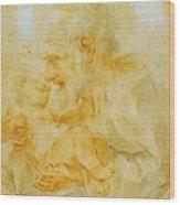 Saint Joseph Wood Print