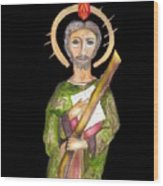 Saint Jude Wood Print by Myrna Migala