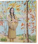 Saint Kateri Wood Print
