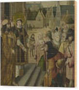 Saint Lawrence Before The Prefect Wood Print