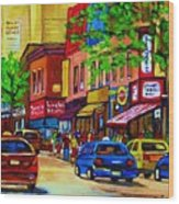 Saint Lawrence Street  Wood Print