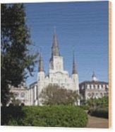 Saint Louis Cathederal 2 Wood Print