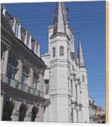 Saint Louis Cathederal 4 Wood Print