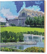Saint Louis City Art Museum Wood Print