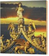 Saint Marks Basilica Facade  Wood Print