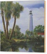 Saint Marks Lighthouse Florida Wood Print