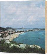 Saint Martin Coast Wood Print