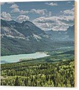 Saint Mary Lake Panorama Wood Print