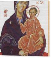 Saint Mary With Baby Jesus Wood Print