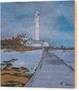 Saint Mary's Lighthouse Wood Print