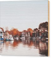 Saint Michael's Harbor Wood Print by Bill Cannon