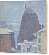 Saint Michel D Aiguilhe Haute Loire Under Snow 1890 Wood Print