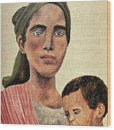 Saint Mother Wood Print